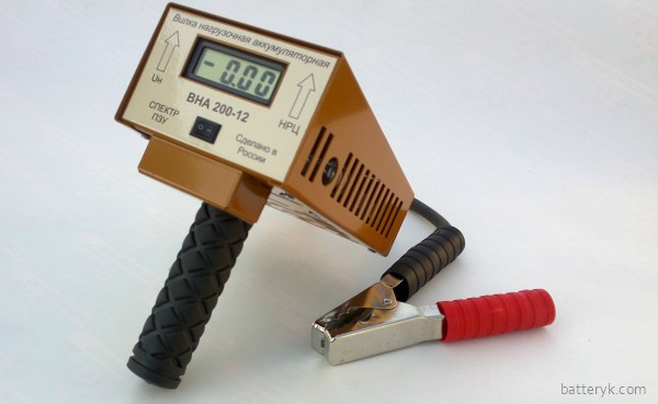 Нагрузочная вилка для проверки аккумулятора
