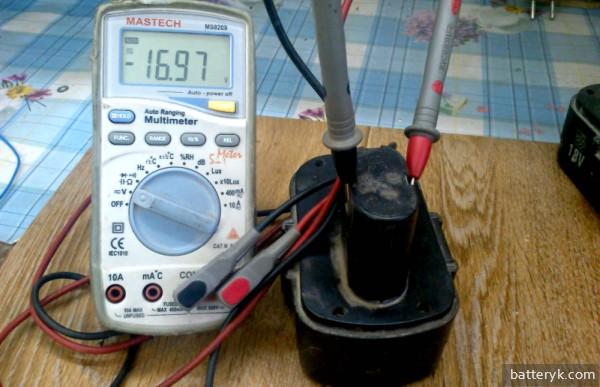 Измерение емкости аккумулятора шуруповерта