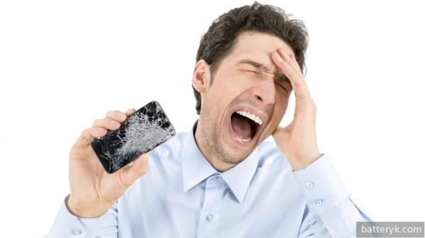 Упал телефон