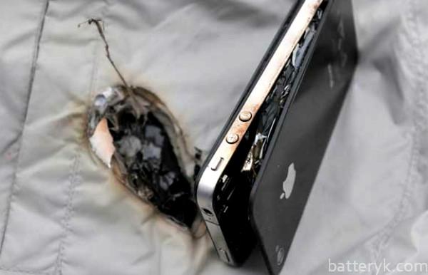 Взорвалась батарея телефона