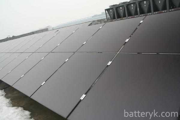 Установленные солнечные модули