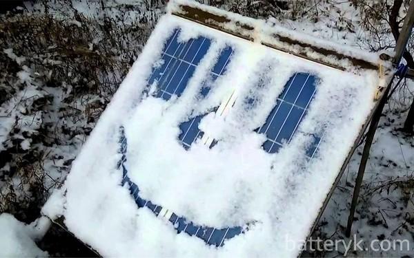 Панель под снегом