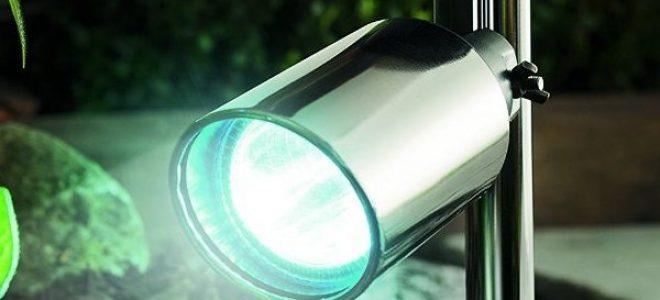 Миниатюра к статье Установка прожектора на солнечных батареях