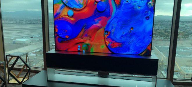 Миниатюра к статье Новый сворачиваемый OLED-телевизор LG 65R9