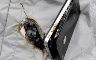 Миниатюра к статье Чем может быть спровоцирован взрыв аккумулятора телефона?